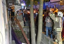İstanbulda balkon çöktü Yaralılar var...