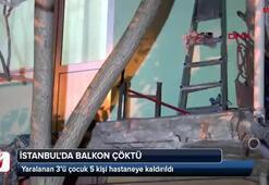 Beyoğlunda balkon çöktü