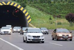 Bayram tatilinde Bolu Dağından 710 bin araç geçti