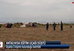 Antalyada tek motorlu uçak düştü