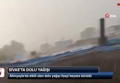 Sivasta dolu yağışı