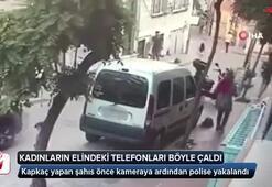 İstanbul'da kadınların elindeki telefonları alıp kaçan kapkaçı yakalandı
