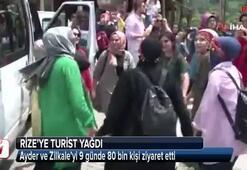 Ayder ve Zilkale'yi 9 günde 80 bin kişi ziyaret etti