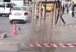 İstanbulda yer altından çıkan dumanlar korkuttu