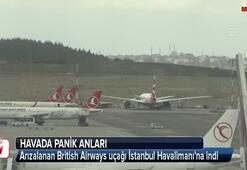 İngiliz havayolu şirketine ait uçakta panik anları