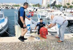Yat Limanı'nda  deniz temizliği