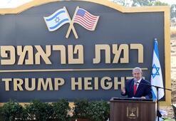 Golanda skandal Ramat Trumpın temeli atıldı