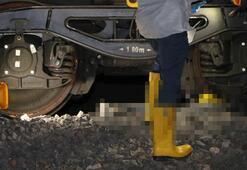 Kan donduran olay Trenin altında kaldı...
