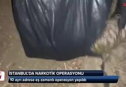 İstanbulda 10 adrese eş zamanlı operasyon