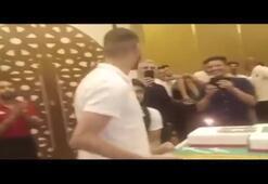 Slimaniye Cezayir Milli Takım kampında kutlama