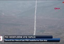 Derecikten Hakurktaki PKK hedeflerine füze atışı