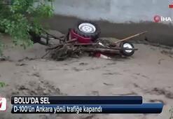 Boluda sel, D-100ün Ankara yönü trafiğe kapandı