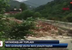 Sel felaketi sonrası oluştu Vatandaşlar topladı