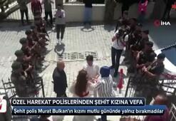 Özel harekat polislerinden şehit kızına vefa