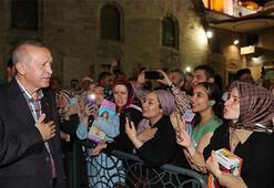 Cumhurbaşkanı Erdoğandan Eyüp Sultan türbesine ziyaret