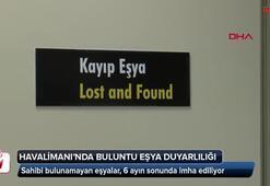 Antalya Havalimanında buluntu eşya duyarlılığı