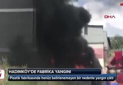 Hadımköyde fabrika yangını