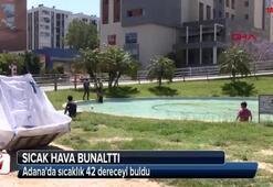 Adanada sıcak hava vatandaşı bunalttı