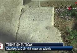 Kapadokya'da 2 bin yıllık mezar taşı bulundu