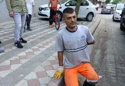 Sultangazide temizlik işçisine baltalı saldırı