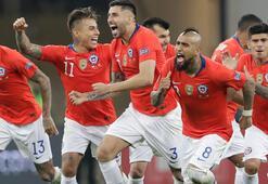 Şili penaltılarla yarı finalde