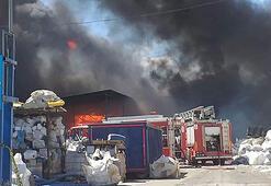 Tekirdağda fabrika yangını
