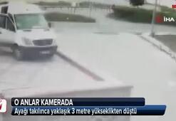 Görülmez kaza güvenlik kamerasına yansıdı