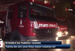 Fabrika alev alev yandı itfaiye ekipleri müdahale etti