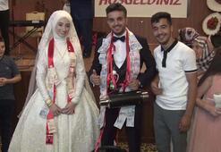 Böyle düğün görülmedi Damada takı yerine...