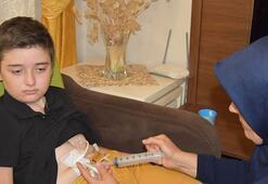Deterjan içen Kayra 9 yılda 300 ameliyat geçirdi