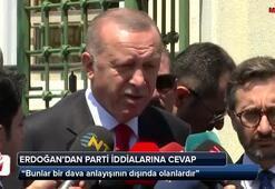 Cumhurbaşkanı Erdoğandan parti iddialarına cevap