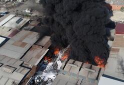 Büyük yangın Kentin birçok yerinden görülüyor