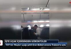 THYnin Maçka uçağı şehit Eren Bülbül anısına Trabzona uçtu