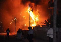 Reyhanlıda derneğe ait depoda yangın