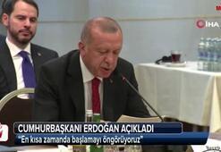 Cumhurbaşkanı Erdoğan: En kısa zamanda başlamayı öngörüyoruz