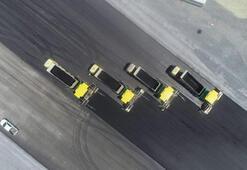 İstanbul Havalimanında 3. pist yapım çalışmaları havadan fotoğraflandı