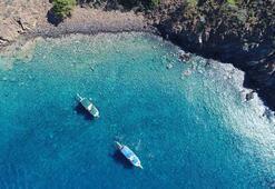 Suluadada Maldivleri aratmayan görüntüler