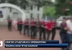Cide'de uyuşturucu operasyonunda 10 tutuklam