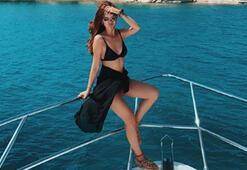 Seray Kayadan bikinili tatil paylaşımı