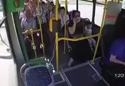 El freni çekilmeyen otobüsten atlayan anne ve çocuk az kalsın ölüyordu