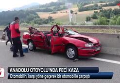 Anadolu Otoyolunda feci kaza