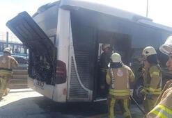 Son dakika... Metrobüste korkutan yangın