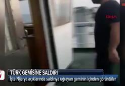 Saldırıya uğrayan Türk gemisinden ilk görüntüler