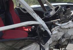 Arnavutköyde feci kaza Arabadan fırladı...