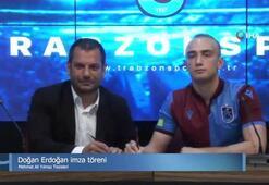 Trabzonspor'da Doğan Erdoğan için imza töreni düzenlendi