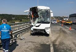 Servis otobüsü kaza yaptı Çok sayıda yaralı var