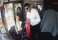 Otobüs şoförü, bayrağı yerde bırakmadı