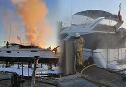 İstanbuldaki iki marinada korkutan yangın