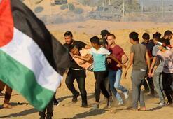İsrail askerleri Gazzede göstericilere ateş açtı: 1 şehit, 55 yaralı