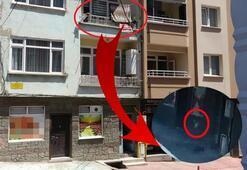 2. kattan düştü... Çamaşır ipi kurtardı